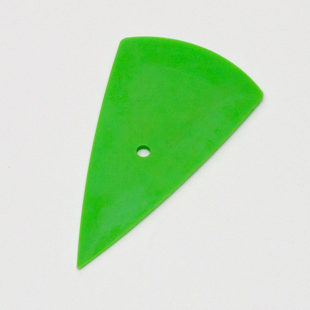 Скребок зеленый мягкий остроугольный