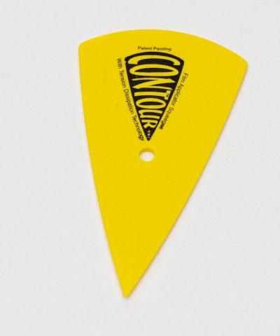 Скребок желтый остроугольный