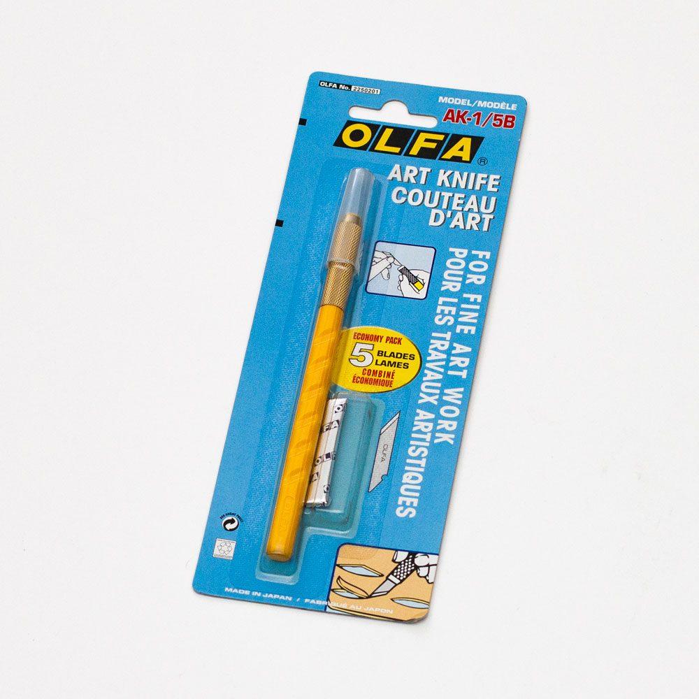 Olfa AK-1/5B. Нож с перьевым лезвием 6 мм.